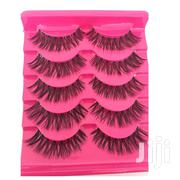 5 Pairs Soft Natural Long Cross Eye Lashes   Makeup for sale in Lagos State, Lagos Mainland