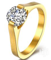 Titanium Steel Engagement Ring-Gold | Jewelry for sale in Ogun State, Ado-Odo/Ota