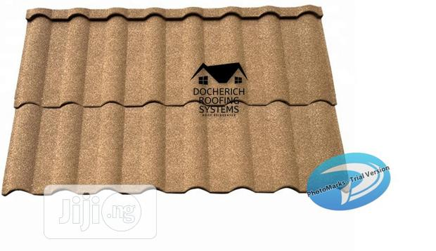 Durable Roman And Milano Stone Coated Roof Tiles Water Gutter