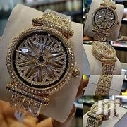 FORECAST 2019 Fashion Spinning Straps Wrist Watch-Gold | Watches for sale in Edo State, Benin City