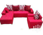 Generic L-Shaped Sofa Chair Couch With Additional Single Seater -Red | Furniture for sale in Ogun State, Abeokuta North
