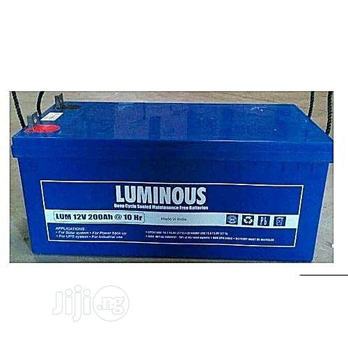 12v/200ah Luminous Inverter Battery