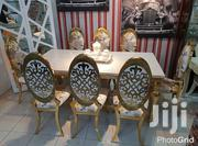 Gold Marble Dining Table With 8 Chairs | Furniture for sale in Lagos State, Ojo