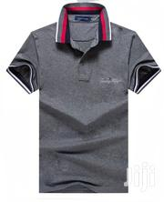 Original Brand Dark Gray Polo Tshirt With Crest Design By Tommy | Clothing for sale in Lagos State, Lagos Island