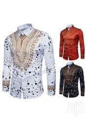 African Men Clothes 3D Pattern Shirt Long Sleeve Designers | Clothing for sale in Rivers State, Port-Harcourt