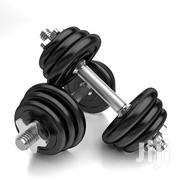 Pair of Adjustable Black Chrome Iron Dumbbell | Sports Equipment for sale in Lagos State, Surulere