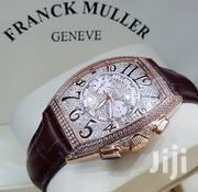 Gold Plated With Full Front Icestone Designer's Watch by Franck Muller | Watches for sale in Lagos State, Lagos Island