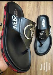 New Black Versace Designers Slippers for Men of Class | Shoes for sale in Lagos State, Lagos Island