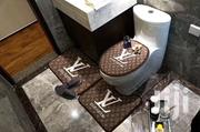 Louis Vuitton LV Toilet Seat Cover And Foot Mat Set | Plumbing & Water Supply for sale in Lagos State, Ikeja