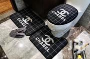 Chanel Toilet Seat Cover And Foot Mat Set - Black | Plumbing & Water Supply for sale in Lagos State, Ikeja