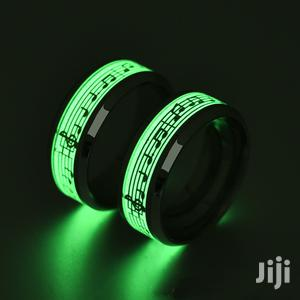 Titanium Steel Luminous Fluorescent Sheet Rings.Comes In Two Colours