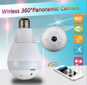 HD 360° Wide Angle Fisheye Wireless Light Bulb VR Panoramic IP Camera | Security & Surveillance for sale in Lagos State, Ikeja