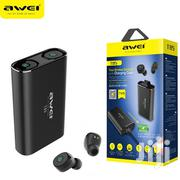 Awei T85 True Wireless Earbuds With Charging Case   Headphones for sale in Lagos State, Ikeja