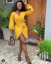 Female Vneck Short Long Sleeve Gown | Clothing for sale in Lagos State, Egbe Idimu