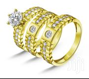 Gold Wedding Three In One Trio Ring Set   Jewelry for sale in Lagos State, Ikeja