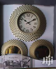 Decorative Wall Clock With Mirror | Home Accessories for sale in Lagos State, Yaba