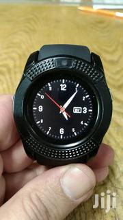 V8 Bluetooth Smartwatch Touch Wrist Watch With Camera/SIM | Smart Watches & Trackers for sale in Edo State, Oredo