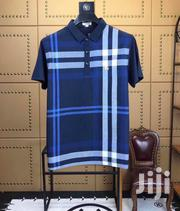 Blue Bold Check Design Designer's Tshirt by Burberry | Clothing for sale in Lagos State, Lagos Island