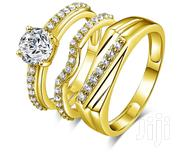 Solid Real 14k Gold Wedding Ring Set   Jewelry for sale in Lagos State, Ikeja