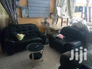 Black Leather Sofa F011   Furniture for sale in Lagos State, Lekki Phase 1