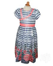Girls Party Dress-fuchia Pink Coral Pink Red Navy Blue And White | Children's Clothing for sale in Lagos State, Ojota