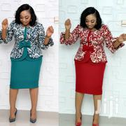 Trending Turkish Bowtie Peplum Dress in Blood Red and Tea Green. | Clothing for sale in Lagos State, Lagos Mainland