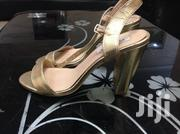 Steve Madden Gold Sandals. Block Heels. Size 40/41 | Shoes for sale in Abuja (FCT) State, Kubwa