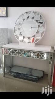 Moroccan Silver Leaf Console Mirror and Table Set | Home Accessories for sale in Lagos State, Lekki Phase 2