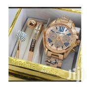Ladies Michael Kors Wrist Watch With 2 Bracelets A02 - Rose Gold | Jewelry for sale in Lagos State, Ikeja
