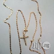Blade Tiny Long Cross Pendi Gold Chain | Jewelry for sale in Lagos State, Lagos Island