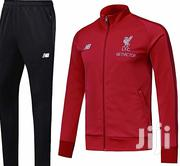 Liverpool Tracksuit - Black & Red | Clothing for sale in Lagos State, Ikoyi