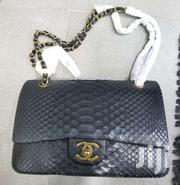 Chanel Python Leather Classic Flap Jumbo Handbag - Black | Bags for sale in Lagos State, Ikeja