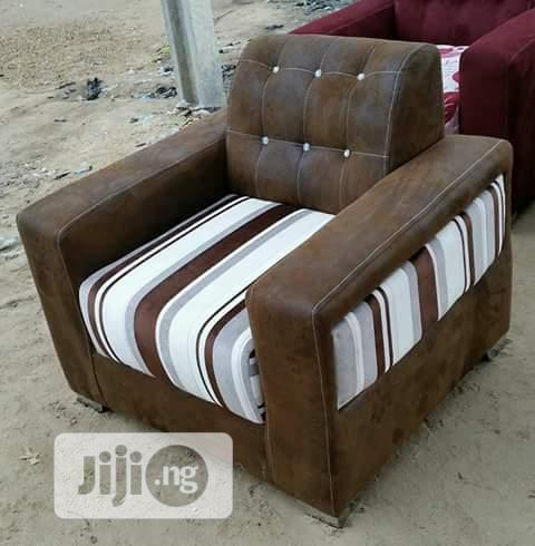 A Set of Brown Block Chair