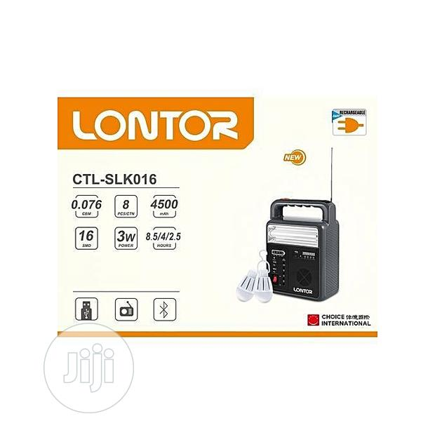 Lontor Solar Lighting Kit With Radio And Bluetooth Electricity