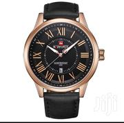 Naviforce Men Black Leather Wristwatch | Watches for sale in Lagos State, Ikeja