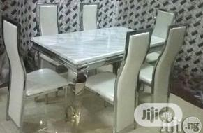 New 6 Seater Marble Dining Table