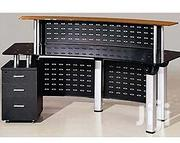 Emel Glass Reception Desk   Furniture for sale in Abuja (FCT) State, Central Business District