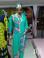 Dry Lace Dress With A Blend Of Ankara | Clothing for sale in Lagos State, Alimosho