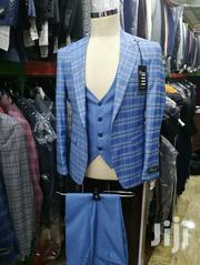 Skyblue Check Ado De Rossi 3piece Turkish Brands Men's Suits   Clothing for sale in Lagos State, Lagos Island