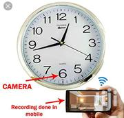 Wall Clock Hidden Camera WIFI Spy Camera HD Wall Clock With Camera | Security & Surveillance for sale in Lagos State, Ikeja