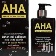AHA White Body Lotion Enhanced Collagen | Skin Care for sale in Lagos State, Surulere