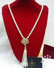 Swarovski Stone Pearl Long Chain Necklace | Jewelry for sale in Lagos State, Ajah