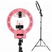 Rechargeable Pink Ringlight 12inches+ Battery+Mirror + Stand E. T. C | Accessories & Supplies for Electronics for sale in Rivers State, Port-Harcourt