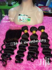 Raw Virgin Loose Deep Wave Human Hair With Closure '16' | Hair Beauty for sale in Lagos State