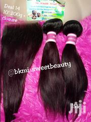Raw Virgin Silky Straight Human Hair With Closure in Color 99j | Hair Beauty for sale in Lagos State, Lagos Mainland
