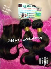 Raw Virgin Bodywave Human Hair With Closure '12' Inches | Hair Beauty for sale in Lagos State, Lagos Mainland