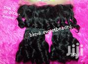 Raw Virgin Bouncy Curl Human Hair With Frontal 10' Inches | Hair Beauty for sale in Lagos State