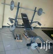 Brand New Weight Lifting Bench With 50kg Weight | Sports Equipment for sale in Abuja (FCT) State, Wuse 2