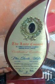 Wooden Plaque Award With Printing | Arts & Crafts for sale in Abuja (FCT) State, Wuse