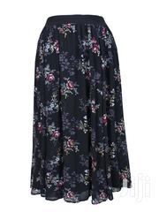 Black Floral Chiffon Maxi Skirt   Clothing for sale in Lagos State, Ikeja